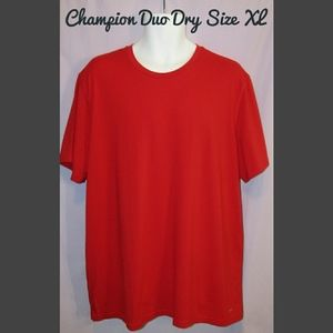 Champion mens red duo dry workout shirt
